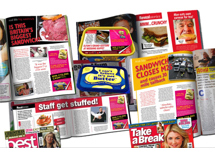 Unbelievable stories in gossip mags and in tubs. Spot the fibs and win.